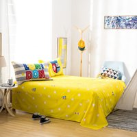 Wholesale Big Rose Bedding - Single Double bed 100%Cotton Bed Sheet Flat Sheets Bedroom Linens Twin Full Queen King Home Bedclothes Bedding Bedsheet big bed sheet