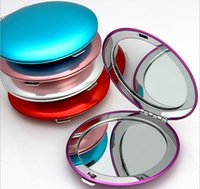 Wholesale Small Beauty Mirror - Personalized of Mixed color of high Quality make up mirror, solid color make up mirror, beauty gift logo ,small makeup mirror gift