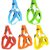 Wholesale Luminous Dog Harness - 10pcs lot LED Nylon Pet Dog harness Night Safety Flashing dog harnesses luminous safty pet harness