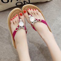 Flip Flops outdoor summer decorations - Fashion Women Flip Flops Shoes Non slip Women Shoes Summer Sandals Casual Slippers Owl Decoration Black Red Color Women s Flip flops SL214