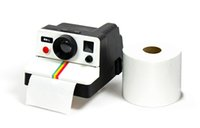 Wholesale Toilet Paper Roll Boxes - Wholesale-Free Shipping 1Piece Retro Polaroid Camera Shaped Toilet Roll Box   Camera Toilet Tissue Paper Holder
