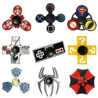 Wholesale Cartoon Mario - Metal Cartoon Fidget Spinners Super Mario Resident Evil Zalda Super Heroes Anime Hand Spinner Zinc Alloy Spinners Decompression Toy
