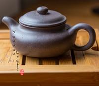 Wholesale Antique Gu - Yi Xing Sesame Antique Style Purple Grit Hand Made Teapot ( Zhi Ma Duan Ni Fang Gu Zi Sha Hu)
