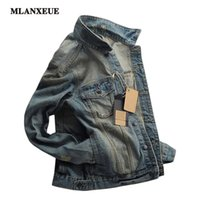 Wholesale Korean Xxl Clothes - Wholesale- Men Denim Jacket Clothing Casual Mens Jacket Solid Coat Male Autumn Spring Slim Korean Version Denim jacket S-XXL