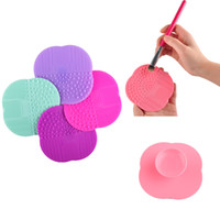 Wholesale Wholesale Black Boards - Makeup Brush Cleaning Mat Washing Tools Hand Tool Pad Sucker Scrubber Board Washing Cosmetic Brush Cleaner Tool Wholesale 2805010