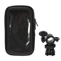 передвижная подставка для мотоциклов оптовых-Мотоцикл держатель телефона для мобильного телефона Подставка для мобильного телефона Поддержка iPhone 5 5S 5C 4S 6 Plus GPS велосипед держатель с водонепроницаемый чехол сумка