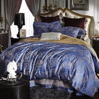 Wholesale Luxury Jacquard Sheets - Bedding Sets Jacquard Comforter Set Duvet Covers European-Style Bed Sheets Four-Pieces Cotton Luxury Bedding Quilts For New Home