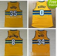 Wholesale 2017 Men s New Kenneth Faried Throwback Jerseys Basketball Emmanuel Mudiay Danilo Gallinari Jersey Retro Yellow JaVale McGee