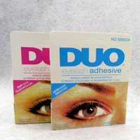 Wholesale Eyelashes Best Selling - New World's best selling adhesive DUO WATER PROOF FALSE EYELASH ADHESIVE EYELASH GLUE Dark White Eyelash Adhesive 9G Makeup Tool White Black