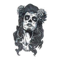 ingrosso sexy tatuaggi provvisori caldi-All'ingrosso-Impermeabile Gangster Rose Tattoo Girl Sexy Cool Beauty Tattoo 1PCS Vendita calda adesivi tatuaggio temporaneo