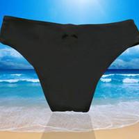 micro-tangas strand groihandel-Heißer Micro Thong Bikini Bottom Trunk Tanga Bademode Brasilianisches Herz T-Back weiblichen Sommer Strand Schwimmen tragen String Badeanzug Höschen