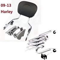 Wholesale Backrest Rack - Motorcycle accessories Sissybar Backrest   Rack Docking hardware For Harley Touring Street Glide 2009-2013