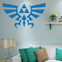 Wholesale cool abstract art - 2017 Hot Sale Cool Graphics Zelda Triforce Wall Decal Legend Of Vinyl Art Sticker Bedroom Living Room Creative Wall Decal Decorative Mural