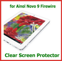 Wholesale Novo Tablet - Wholesale- 10pcs Clear Full Screen Protector Protective Film for Ainol Novo 9 Firewire Spark Quad Core Tablet PC NO Retail Package