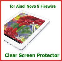 Wholesale Ainol Novo Quad Core - Wholesale- 10pcs Clear Full Screen Protector Protective Film for Ainol Novo 9 Firewire Spark Quad Core Tablet PC NO Retail Package