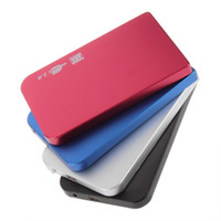 Wholesale Aluminum Hard Drive Enclosure - 4 Color S2502 EL5018 USB 2.0 HDD Hard Drive Disk HDD Enclosure External 2.5 Inch Sata HDD Case Box Super Slim Aluminum alloy Mobile Disk
