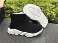 Wholesale Kids Rubber Socks - 2017 New Arrival kids shoes Speed Trainers knit Socks Sneakers Girls Boys Mid Casual Sports Shoes Mercurial Shoes euro 25-35