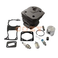 Wholesale Gasket Oil - arden Tools Chainsaws 44mm Cylinder Piston Kits with Gasket Oil Filter and spark plug Decompression Valve for HUSQVARNA 346XP 350 351 353...