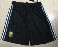 Wholesale Men S Home Pants - 2018 world cup Argentina Soccer shorts 2018 Argentina Home Blue soccer shoats pants Messi Aguero Di Maria football uniform shorts