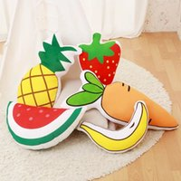 Wholesale- One Piece Super Soft Baby PP cotone imbottito farcito Cuscino Serie frutta Lovely Sleeping Pillows Friends Birthday Presents 5 Style