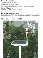 Wholesale Solar Powered Ip Camera Wireless - 2017 year hot sale ,solar power outdoor wireless 3G network IR array led night vision ip camera with 1TB hard disk
