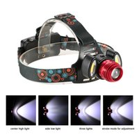 1500LM 3 LEDs Regolabile Modo Rotante Zoomable Head Modes Torcia elettrica auricolare Hand-free per correre Camping Night Riding Outdoor