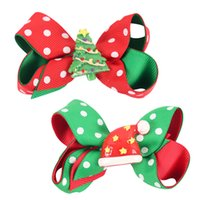 Wholesale Wholesale Toddler Girls Accessories - 3 Inch Christmas Hair Bow For Kid Girl Baby Girl Hair Accessories Wholesale Toddler Headwear For Party