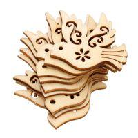 libros de recortes de diseño al por mayor-80Teile / Satz Gro ßHandel Hohe Qualit äT Neue Design Vogel Stanzen Diy Scrapbook Holz Chip Hochzeit Dekoration 38Mm * 37Mm 1154