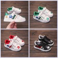 flache schuhe gummi für mädchen großhandel-Großhandel Kinder Schuhe 2017 neue Mädchen Jungen Mode Freizeitschuhe für 3-8 Jahre Gummisohle flache PU Schuhe für Kinder Studenten
