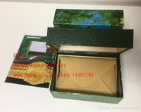 sports file - High Quality Perpetual Brand Watch Box Papers File Card Green Gift Boxes Use President Watches