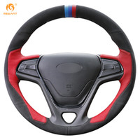 Mewant Red Leather Black Suede Car Steering Wheel Cover pour Chery Arrizo 5
