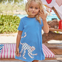 Wholesale Wholesale Birthday Clothes For Children - Robe Fille Girls Summer Dress 2018 Brand Animal Floral Princess Dress Children Costume for Kids Clothes Baby Birthday Dress
