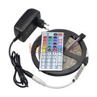 Wholesale Dimmable Waterproof Led - IP65 Waterproof RGB LED Light Strips Dimmable 12V 5M 300 LEDs SMD3528 RGB 16-Colors Changeable LED Strip Lights