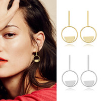 Wholesale Wholesale 14 K Gold - YC High Quality Europe & USA 14 k Gold Plated Geometry Dangle Earrings Women's Fashion Stud Earrings Original Creative Design Factory Price