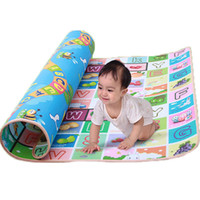 Wholesale Carpet Play Mats For Kids - Wholesale- Two-Side Kid Toddler Educational Crawl Mat Climbing Playing Carpet Baby Learning Playmat Picnic Blanket Play Rugs For Children