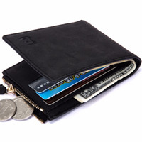 Wholesale Thin Money Wallet - Dollar Price with Coin Bag zipper new men wallets mens wallet small money purses Wallets New Design Top Men Thin Wallet