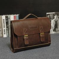 Wholesale Free Business Promotions - Wholesale- Promotion Free Shipping Vintage Men Briefcase Portfolios Office Bags Business Bag Messenger For Men