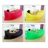 Wholesale Double Bedding Bag - Fast Inflatable Air Sleeping Bag Waterproof Lazy Sofa Bed Festival Camping Hiking Travel Hangout Beach Bag Bed Camping Banana Couch