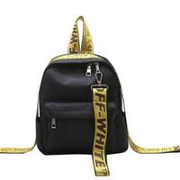 grandes sacos designer casual venda por atacado-Novo designer saco branco fita oxford bolsas de pano ocasional grande mochila saco de viagem do sexo feminino Mochila frete grátis