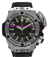 Wholesale Unique Men Bracelets - Luxury Watches Unique Mens Watches 48mm Automatic Black Dial Watch Rubber Bracelets Sports And Outdoor Watch Men Watch