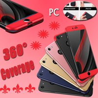 Wholesale blue shield covers - New Design Shields 360 Degree Coverage Protection Full Cover Hard PC Phone Case Luxury Dirtproof Back Cover For iPhone 7 Plus 6 6S