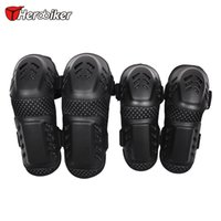 Wholesale Joelheira Knee - Outdoor Sports Safet Motorcycle Knee Protector Safety Knee Pad Protection Riding Elbow Pads Joelheira Moto Motorcycle Kneepads & Elbows Set
