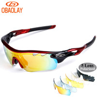 ingrosso mtb woman glass-OBAOLAY Polarized Occhiali da Sole da uomo 2017 Radar EV Pitch ciclismo occhiali MTB Occhiali da donna Bicicletta Occhiali UV400 Bike glass