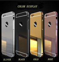 Wholesale Iphone4 Bumpers - For apple iPhone Luxury Mirror Aluminium Metal Bumper Case For modelo iPhone4 5 6 7 Plus free shipping with opp package