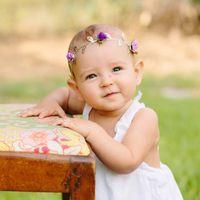 ouro diadema diy venda por atacado-Bebê Headband Fashin DIY Rose Flor Folha De Ouro Coroa Floral Menina Garland Crianças Acessórios Para o Cabelo 3 Cor