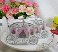 """Wholesale Cinderella Carriage Favors - Wholesale-Free Shipping 1pcs Cinderella """"Enchanted Carriage"""" Wedding Favor Boxes Wedding Candy Box Casamento Baby Shower Favors And Gifts"""