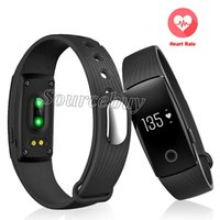 Wholesale id107 smart bracelet online – New Smart Band quot OLED Touch Screen ID107 Bluetooth Smart Wristbands ID Heart Rate Monitor Fitness Tracker For Android iOS Bracelet