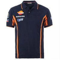 Wholesale Riding Shirt Motorcycle - 2017 Cotton Motorcycle T-Shirts Repsol Hond Motogp Team Polo Shirt Moto GP Polo Shirt 93 T-shirt Motorbike Riding Tee
