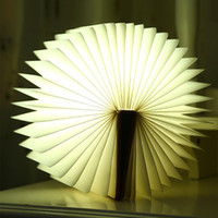 Wholesale Lamps Wood Paper - Foldable Book Light USB Rechargeable Creative Night LED Night Lamp for Desk Table Wall Decor Magnetic Eye Care Lamp