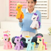 Wholesale Lovely Baby Model - Hot 6 Style 25 Cm Anime My Lovely Pony Toys Model Action Figure Baby Soft Toys for Children Christmas Toy Doll Free Shipping